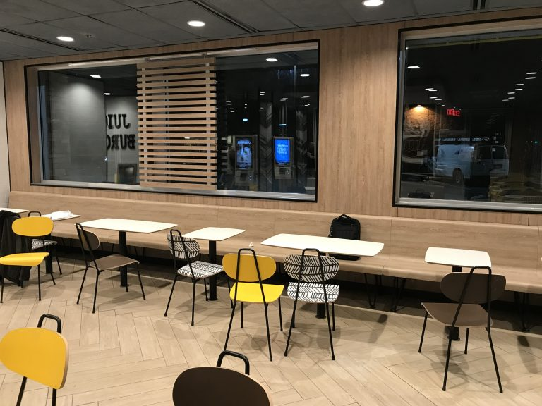 retail seating renovation
