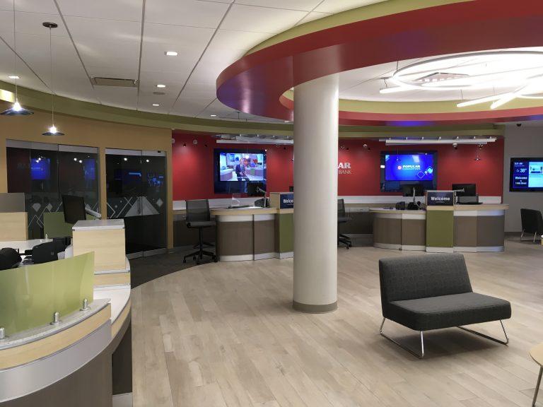 bank interior renovation